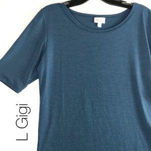 LuLaRoe L Gigi Blue NWT